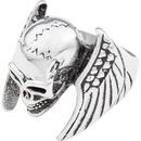 """Bild 1 von Spirit Motors Edelstahlring """"Winged Skull"""" silber"""