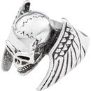 """Bild 2 von Spirit Motors Edelstahlring """"Winged Skull"""" silber"""
