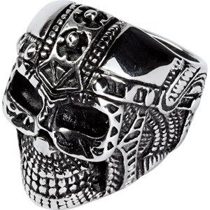 Spirit Motors Edelstahl Ring mit Totenkopf 1.0 silber