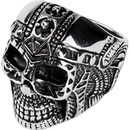 Bild 1 von Spirit Motors Edelstahl Ring mit Totenkopf 1.0 silber