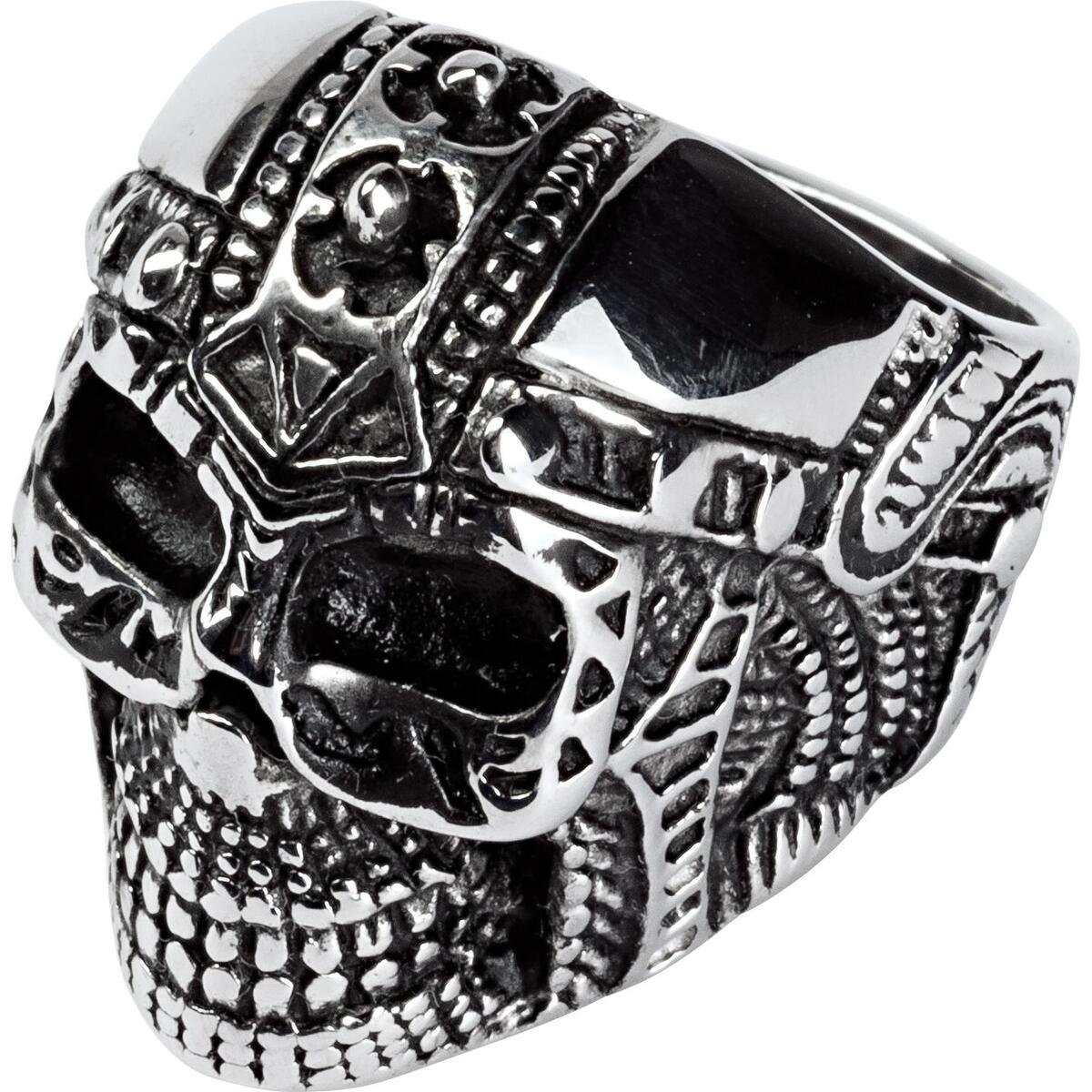 Bild 2 von Spirit Motors Edelstahl Ring mit Totenkopf 1.0 silber