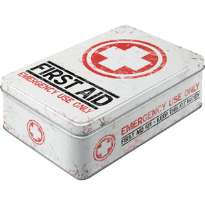 "Nostalgic-Art Vorratsdose Flach ""First Aid Kit"""