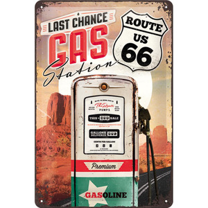 "Nostalgic-Art Blechschild 20 x 30 ""Route 66 Gas Station"""