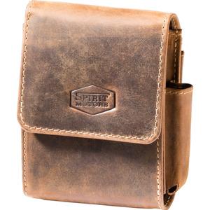 Spirit Motors Vintage Leder Gürteltasche für Zigarettenschac braun