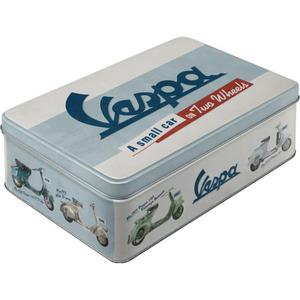 """Nostalgic-Art Vorratsdose Flach """"Vespa - Model Chart"""""""