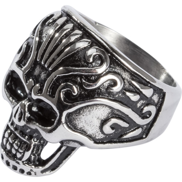 Spirit Motors Edelstahl Ring mit Totenkopf 2.0