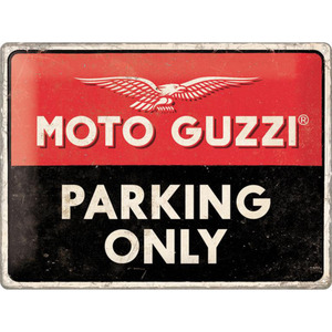"Nostalgic-Art Blechschild 30 x 40 ""Moto Guzzi - Parking Only"