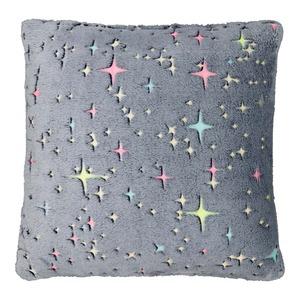 Dekokissen mit leuchtenden Sternen, ca. 45x45cm