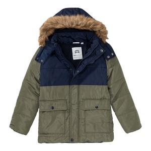 Jungen-Jacke mit Kunstfell-Besatz