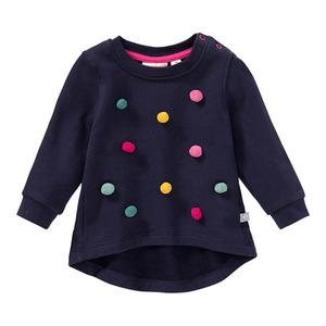 Baby-Mädchen-Sweatshirt mit Pompoms
