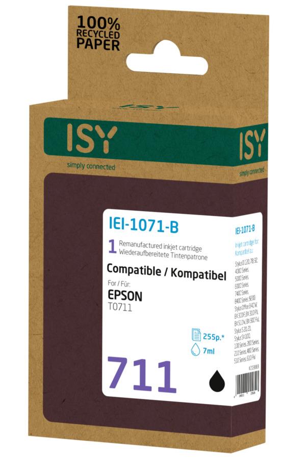 ISY IEI-1071-B Tintenpatrone wiederaufbereitete Tintenpatrone 711 Schwarz  online
