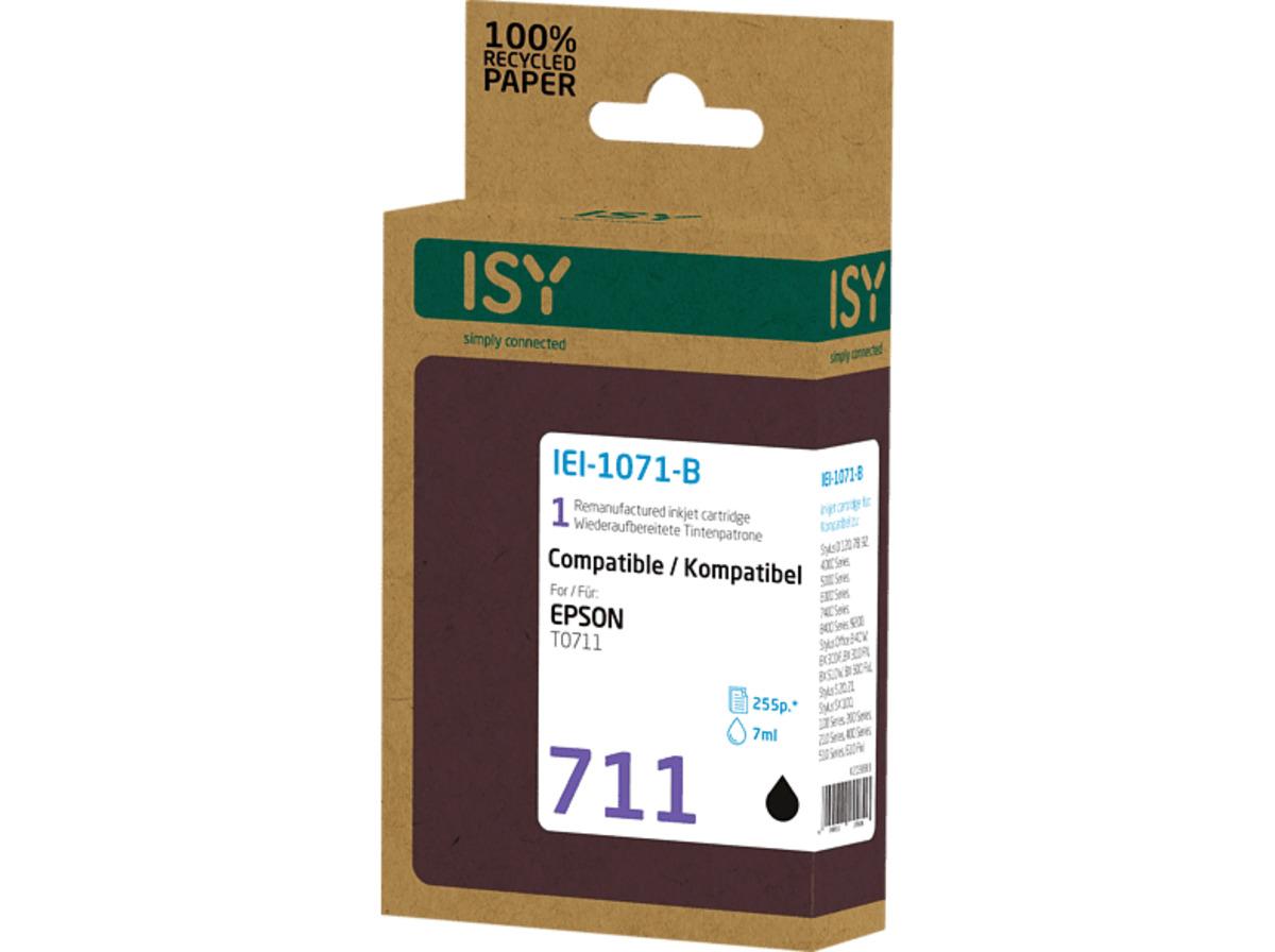 Bild 2 von ISY IEI-1071-B Tintenpatrone wiederaufbereitete Tintenpatrone 711 Schwarz  online
