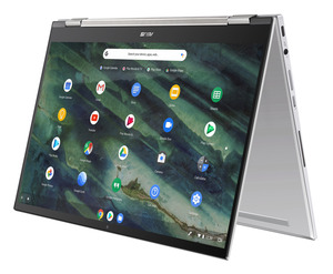 ASUS Chromebook Flip C436 (C436FA-E10029), Chromebook mit 14.0 Zoll Display, Core™ i5 Prozessor, 8 GB RAM, 512 GB SSD, Intel® UHD Graphics, Transparent Silver