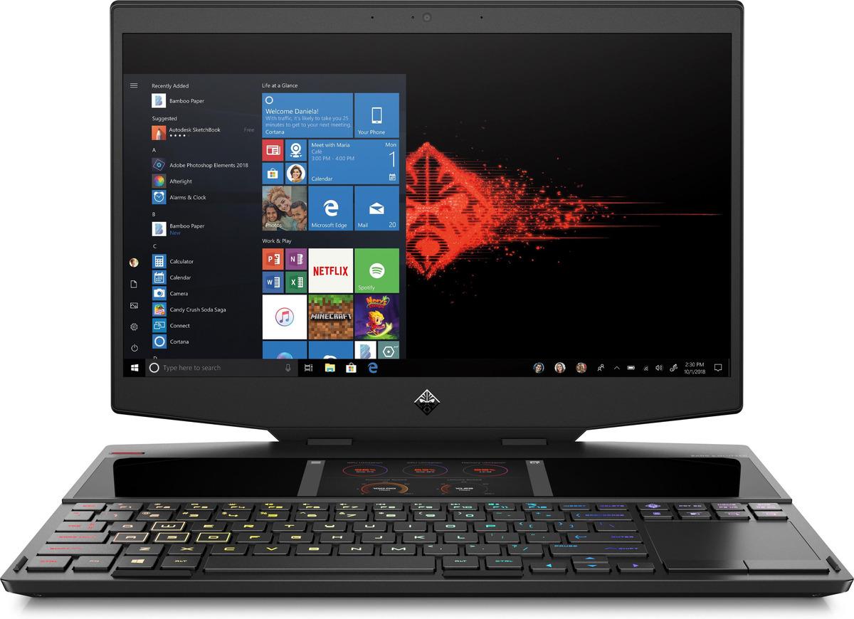 Bild 1 von HP OMEN X 15-dg0320ng, Gaming Notebook mit 15.5 Zoll Display, Core™ i7 Prozessor, 16 GB RAM, 1 TB SSD, 1 TB SSD, GeForce RTX 2070 Max-Q, Schwarz