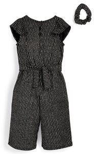Schwarz-silberner Jumpsuit mit Hosenrock (kleine Mädchen)