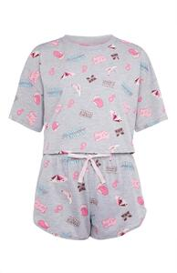 "Graues ""Sex Education"" Pyjamaset"