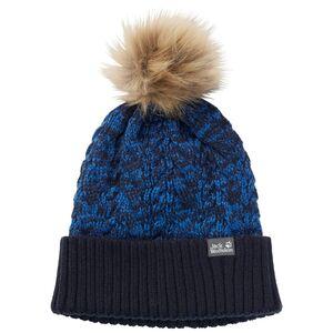 Jack Wolfskin Knit Pompom Cap Kids Strickmütze Kinder S blau night blue