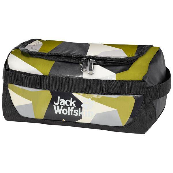 Jack Wolfskin Expedition Washbags & Towels Bags Kulturbeutel one size braun green geo block