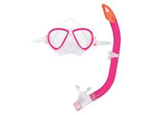 CRIVIT® Schnorchelset Kinder, aus Silikon, mit schwenkbaren Schnellverschluss-Schnallen