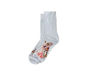 1 Paar bedruckte Socken