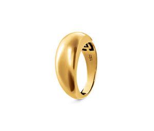Breiter Ring, 925 Silber vergoldet »Pure Collection«