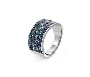 Ring veredelt mit funkelnder Kristalleinlage