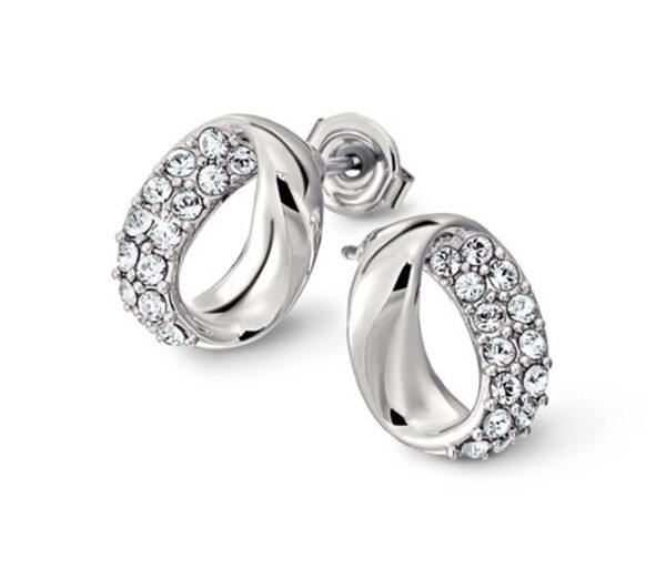 Ovale Ohrstecker veredelt mit Kristallen von Swarovski®