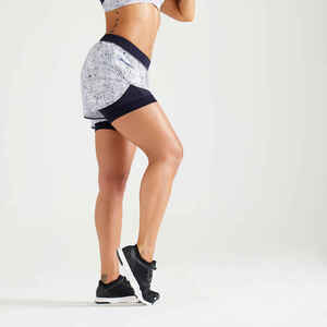 Shorts 900 Fitness Cardio Damen weiss
