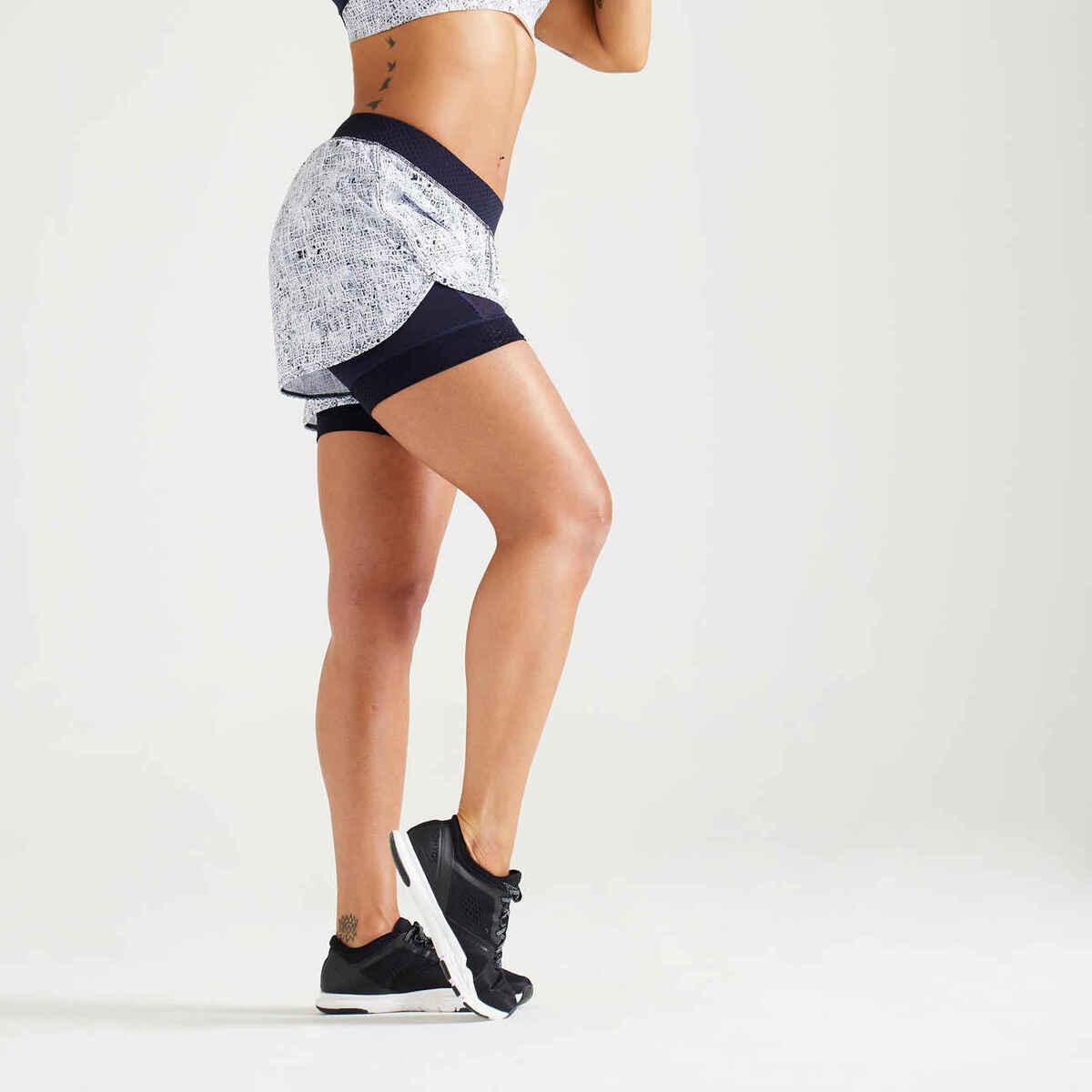Bild 1 von Shorts 900 Fitness Cardio Damen weiss
