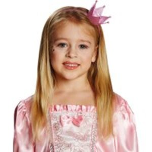 Glitzer Krönchen Haarreif rosa