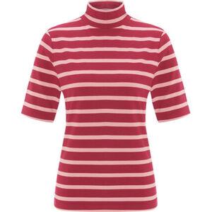 MANGUUN Collection Shirt, Ringel, Stehkragen, 3/4 Arm, für Damen