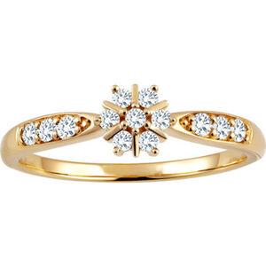 Moncara Damen Ring, 375er Gelbgold mit 13 Diamanten