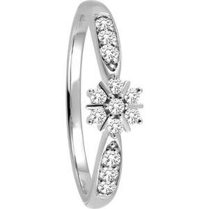 Moncara Damen Ring, 375er Weißgold mit 13 Diamanten