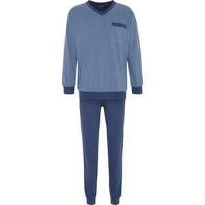 Dunmore Pyjama, V-Ausschnitt, Baumwolle, für Herren