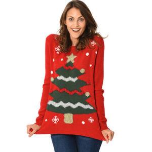 MANGUUN Pullover, Weihnachtsmotiv, für Damen