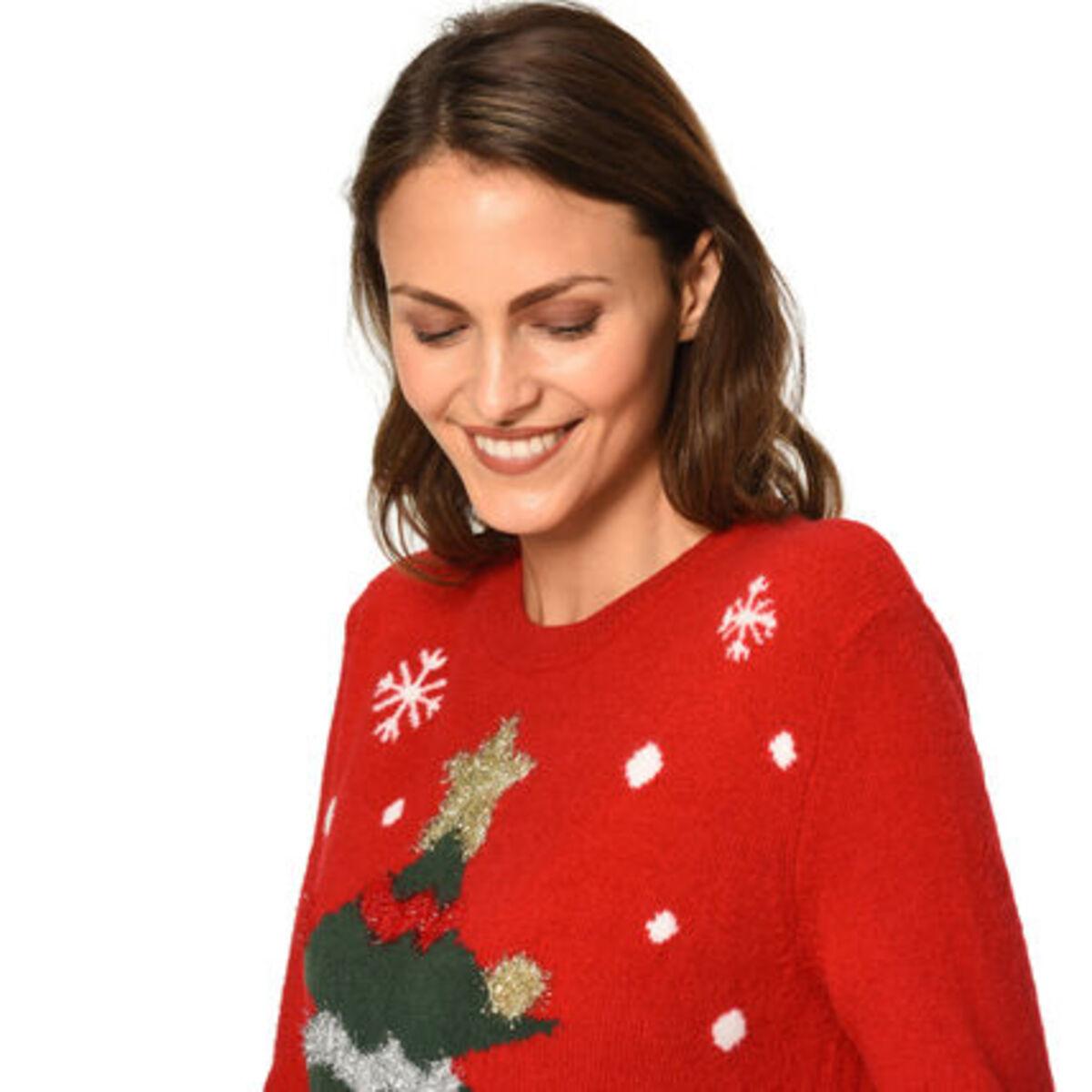 Bild 3 von MANGUUN Pullover, Weihnachtsmotiv, für Damen