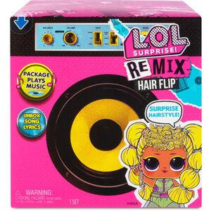 L.O.L. Surprise Überraschungsbox Remix Hairflip Tots, mit Puppe und Schallplatte, inkl. Lautsprecher