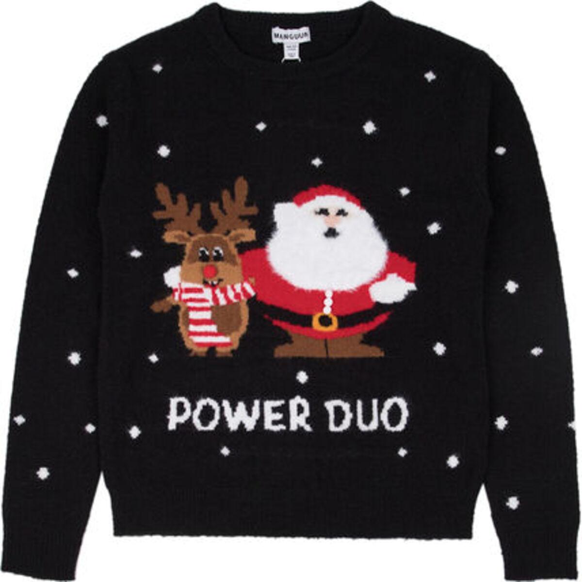Bild 1 von MANGUUN Weihnachtspullover, Bommel-Applikationen, für Mädchen