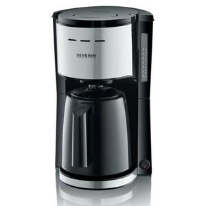 SEVERIN KA 9251 Filterkaffeemaschine (Thermo-Kanne, 8 Tassen, 1 x 4, 1000 Watt, Schwenk-Filter, Durchbrüh-Deckel)