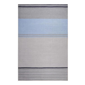 Esprit Flachwebeteppich 60/100 cm braun, grau, hellblau , Camps Bay , Textil , Streifen , 60x100 cm , für Fußbodenheizung geeignet, in verschiedenen Größen erhältlich, für Hausstauballergiker g