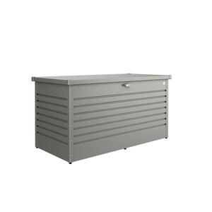 Biohort Kissenbox , Freizeitbox 160 High , Grau , Metall , 160x79x83 cm , pulverbeschichtet, verzinkt , Deckel, Deckel aufklappbar, regenabweisend, wetterbeständig , 001284001809