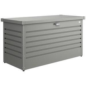 Biohort Kissenbox , Freizeitbox 130 , Grau , Metall , 134x71x62 cm , pulverbeschichtet, verzinkt , regenabweisend , 001284001819