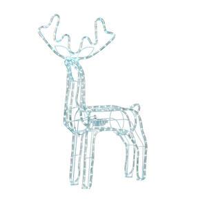X-Mas Led-dekoleuchte , Rentier Groß , Weiß , Metall, Kunststoff , 41x87x70 cm , 008181032202