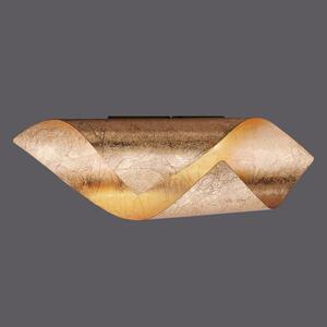 XXXLutz Led-wandleuchte , 9030-12 Nevis , Goldfarben , Metall , Uni , 10x10x31 cm , lackiert , Wippschalter , 003467040908