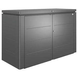 Biohort Kissenbox , Highboard 200 , Dunkelgrau , Metall , 200x127x84 cm , pulverbeschichtet, lackiert, verzinkt , Deckel aufklappbar, regenabweisend, wetterbeständig , 001284002209