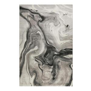 Esprit Webteppich 240/290 cm grau, hellgrau, dunkelgrau , Voyage , Textil , Abstraktes , 240x290 cm , für Fußbodenheizung geeignet, in verschiedenen Größen erhältlich, Fasern thermofixiert (heat