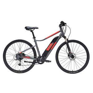 E-Bike Cross Trekkingrad 28 Zoll Riverside 500E grau/rot