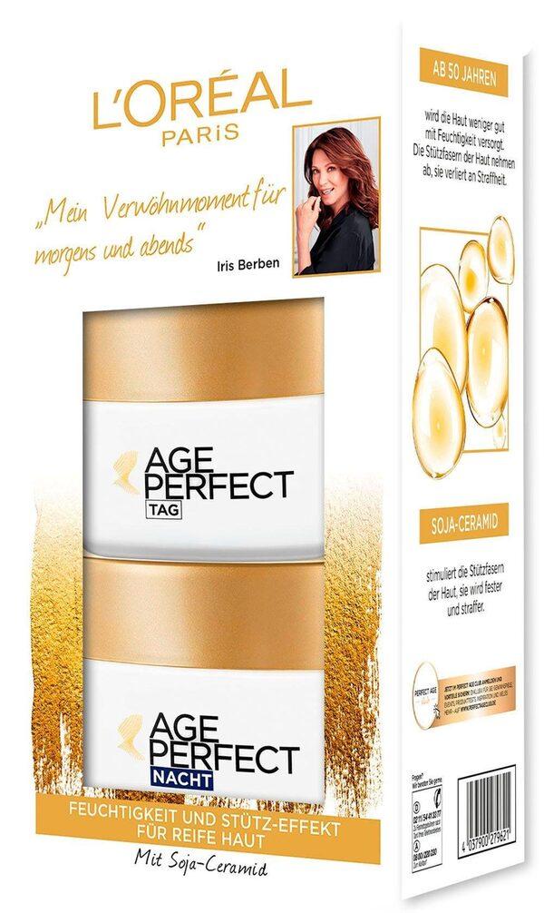 L'ORÉAL PARIS Gesichtspflege-Set »Age Perfect Tag und Nacht« Set, 2-tlg., mit Soja-Ceramiden