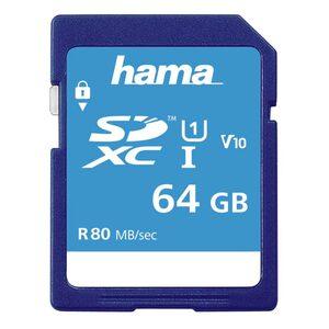 Hama SDXC Speicherkarte 64 GB, Class 10 UHS-I 80MB/S »SD Memory Card«