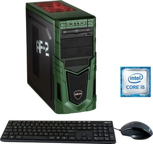 Hyrican Military Gaming 6456 Gaming-PC (Intel® Core i5, RTX 2070 SUPER, 16 GB RAM, 1000 GB HDD, 480 GB SSD, inkl. Office-Anwendersoftware Microsoft 365 Single im Wert von 69 Euro)